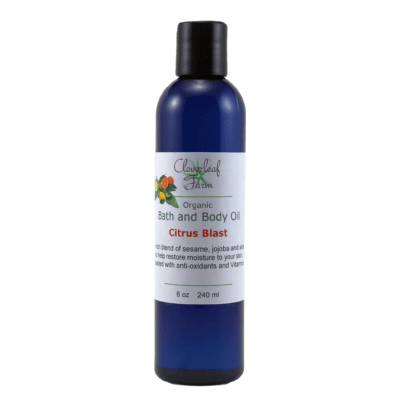 Organic Bath and Body Oil, Citrus Blast