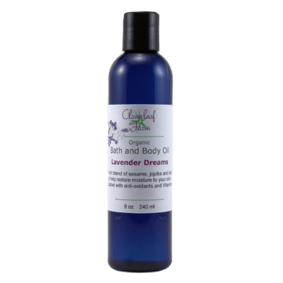 Organic Bath and Body Oil, Lavender Dreams