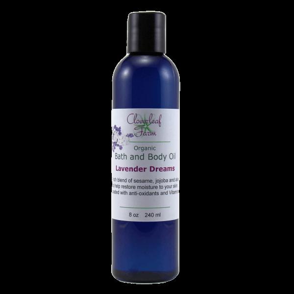 Organic Bath and Body Oil, Lavender Dreams