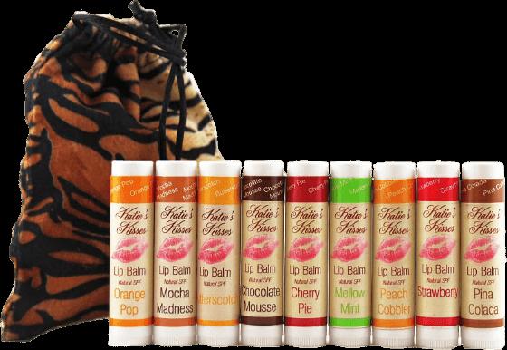Katie's Kisses Gift Bag of 9 Natural Flavors