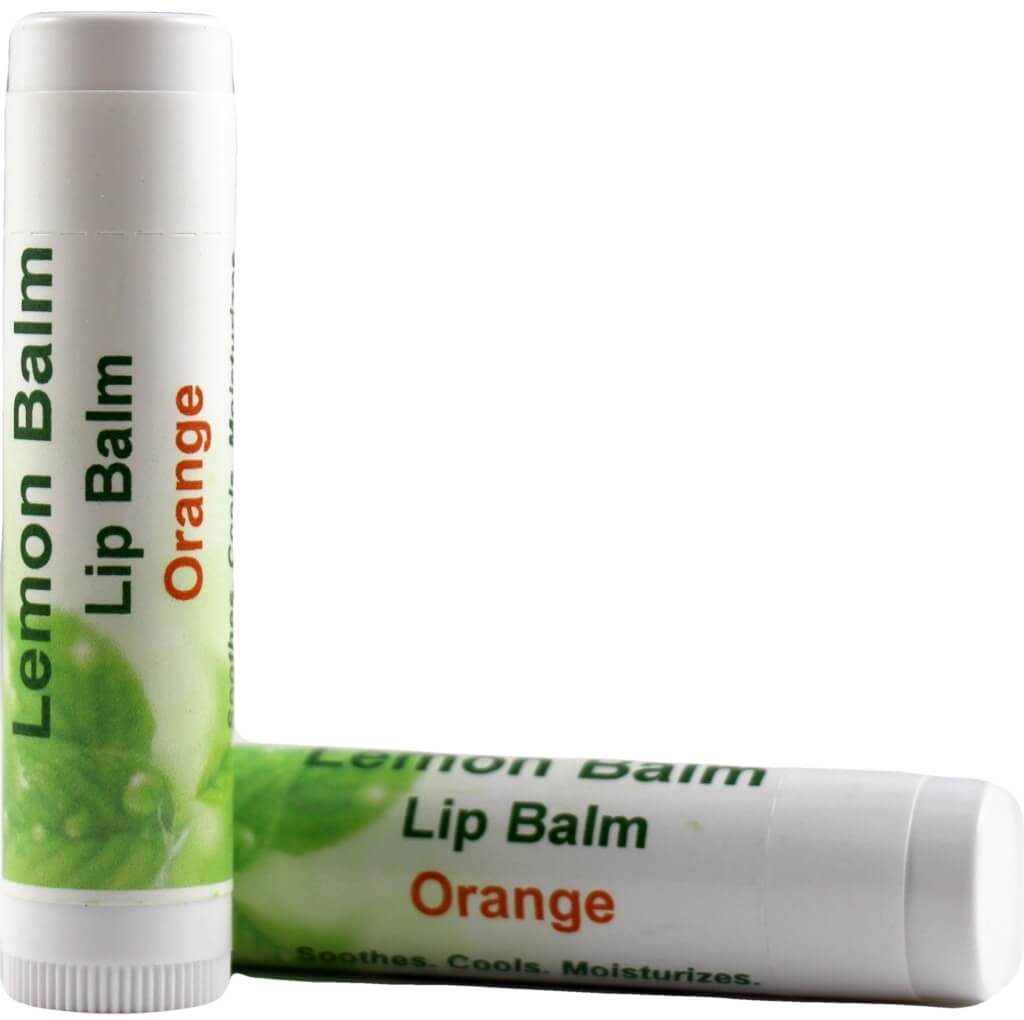 Lemon Balm Lip Balm Orange Flavor