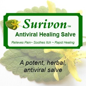 Surivon Antiviral Salve For Herpes, Cold Sores, Shingles