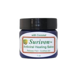 Surivon with Coconut Oil for herpes, cold sores, and shingles symptoms